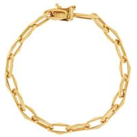 Vintage Modern Link 14K Gold Bracelet