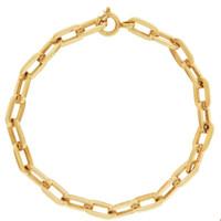 Vintage Thick Oval Link 14K Gold Bracelet