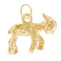 Vintage Little Lamb 14K Gold Charm