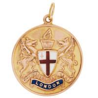 Vintage London Coat of Arms 9K Gold Charm