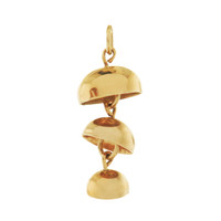 Japanese Wind Chimes 14K Gold Charm