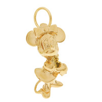 Vintage Minnie Mouse 14K Gold Charm