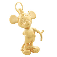 Vintage Mickey Mouse 14K Gold Charm