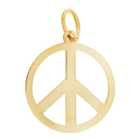 Peace Sign 14K Gold Charm