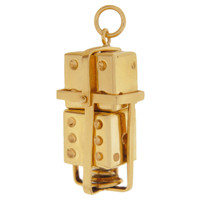 Vintage Movable Dice in Holder by AC 14K Gold Charm