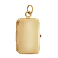 Book Locket Engravable 14K Gold Charm