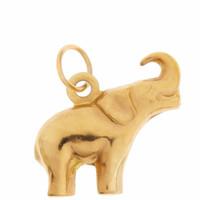 Vintage Puffy Elephant 14K Gold Charm