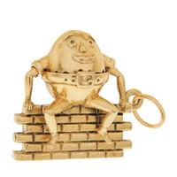 Vintage Movable Humpty Dumpty 14K Gold Charm