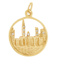 Vintage Diamond New York City 14K Gold Charm