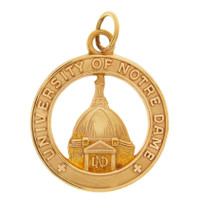 Vintage University of Notre Dame 10K Gold Charm