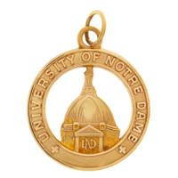 Vintage University of Notre Dame 10K Gold Charm