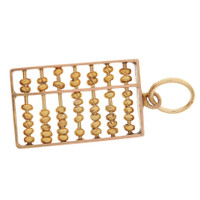 Vintage Movable Bead Abacus 14K Gold Charm
