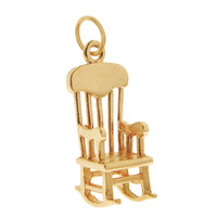 Vintage Classic Rocking Chair 14K Gold Charm