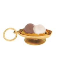 Vintage Ice Cream Sundae 14K Gold Charm