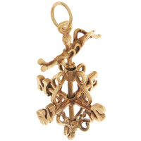 Vintage Weather Vane 14K Gold Charm