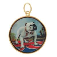 Vintage English Bulldog 14K Gold Charm