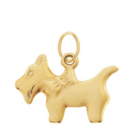 Vintage Dog - Golden Scottie 14K Gold Charm