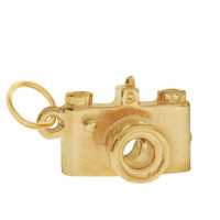 Camera with Lens 14K Gold Charm