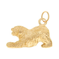 Dog - Shaggy Puppy 14K Gold Charm