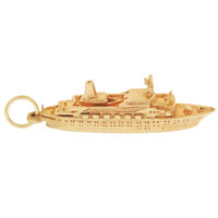 "Vintage ""Spirit of London"" Ship 9K Gold Charm"