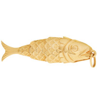 Vintage Classic Moving Fish 18k Gold Charm