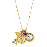 """""""Annabel"""" Classic Cable Link 14k Gold Charm Necklace"""