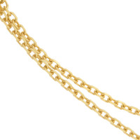 """Annabel"" Heavier Cable 14k Gold Charm Necklace"