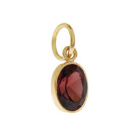 Single Birthstone - January Garnet 14K Gold Charm