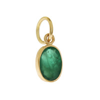 Single Birthstone - May Emerald 14K Gold Charm