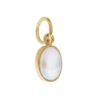 Single Birthstone - June Pearl 14k Gold Charm