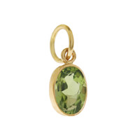 Single Birthstone - August Peridot 14K Gold Charm