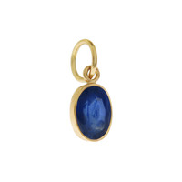 Single Birthstone - September Sapphire 14k Gold Charm