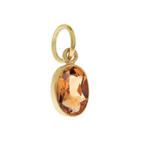 Single Birthstone - November Citrine 14K Gold Charm