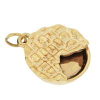 Pie 14k Gold Charm