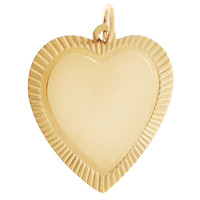 Framed Heart 14k Gold Charm