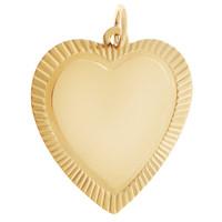 Framed Heart 14K Gold Charm