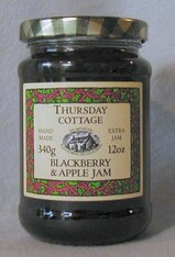 Thursday Cottage Preserves Jams Blackberry & Apple 340g jar