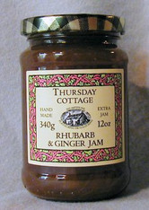 Thursday Cottage Preserves Rhubarb and Ginger 340g jar