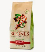 Sticky Fingers English Peppermint Chocolate Chip Scone Mix  1lb