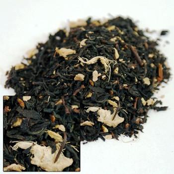 Lemon ginger flavored tea
