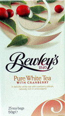 Bewleys Pure White With Cranberry Tea Bags, 25 Count
