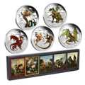 2012/2013 Dragons of Legend 1oz Silver 5-Coin Collection
