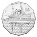 2014 50c Battle of Cocos Islands CuNi Unc