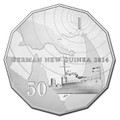 2014 50c German New Guinea CuNi Unc
