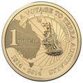 2014 $1 Terra Australis Melbourne ANDA Show M Counterstamp UNC