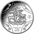 2015 $1 Year of the Goat 1oz Silver Proof