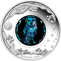 2014 $1 Opal Masked Owl 1oz Silver Proof