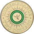 2014 $2 Circulated Finish Coloured Remembrance Day Coin