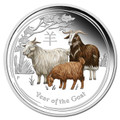 Australia 2015 Year of the Goat 1/2oz Colour Silver Proof