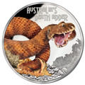 2016 $1 Deadly & Dangerous - Death Adder 1oz Silver Proof